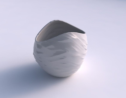 Bowl compressed 3 with fibers 3D printable model