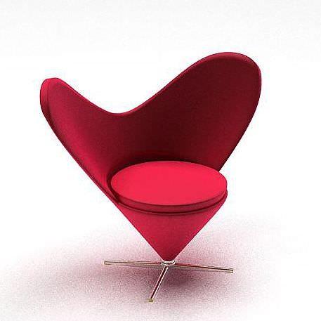 Ordinaire Heart Shaped Chair 3D Model