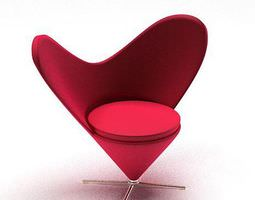 heart shaped chair 3d model