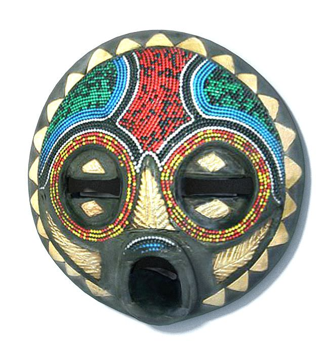 Colorful African Mask 3D Model MAX CGTradercom