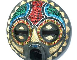 3D Colorful African Mask