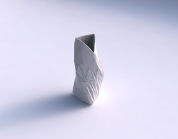 vase twist grounded tipping triangle with partial random triangle plates 3d print model