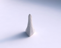 vase grounded tipping triangle with random triangle plates 3d printable model