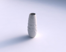 Vase bullet with rocky fibers 3D Model