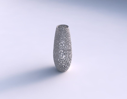 Vase bullet with dense organic lattice 2 3D Model