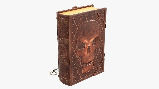 Old book in leather decorated 01