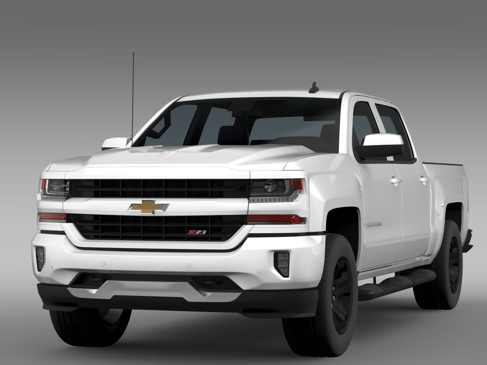 Chevrolet Silverado Lt Z71 Crew Cab Gmtk2 Short Box 2017 3d Model