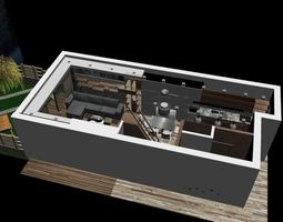 3d complet modern minimal flat 2