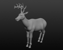 antler deer 3d model