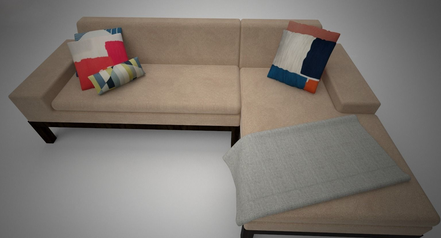 West elm lorimer sofa with chaise 3d model max for Chaise modele