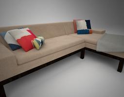 West Elm Lorimer Sofa with Chaise 3D model