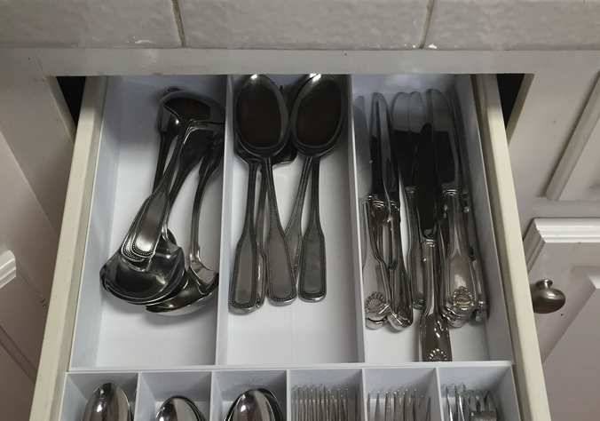 3 Section Drawer Divider Organizer For Kitchen Drawers 3d