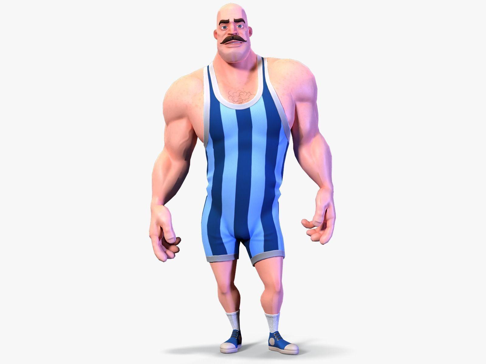 Stylized Rigged Athlete Man