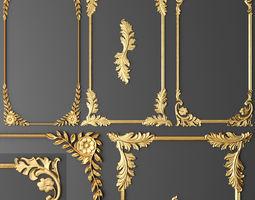 frame cartouches set 3d