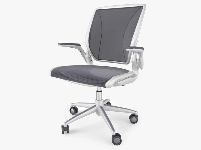 humanscale diffrient world office chair 3d model max obj mtl fbx 1
