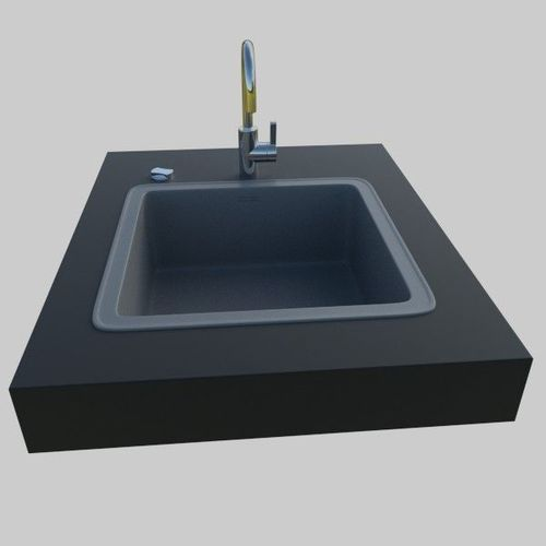 Kitchen Sink 3D Model OBJ 3DS FBX BLEND DAE X3D CGTrader.com