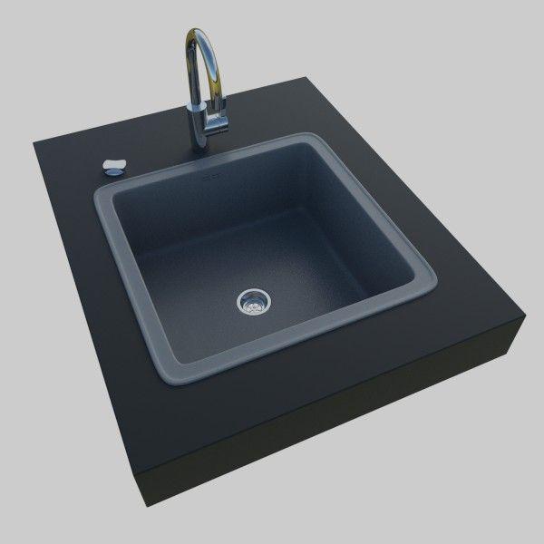 kitchen sink 3d model obj 3ds fbx blend dae x3d 1 - Kitchen Sink Models