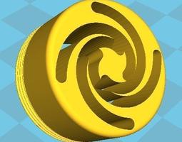 3d print model water tap faucet nozzle - golden spiral vortex