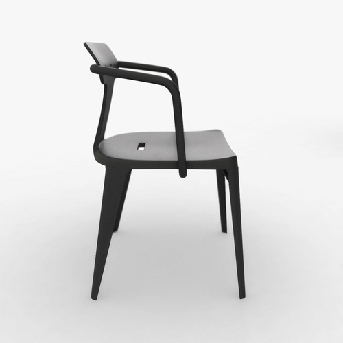 tolix t14 stainless steel chair 3d model max obj 3ds fbx stl ige igs iges 2
