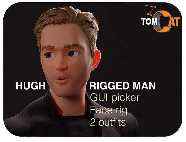 Hugh Rigged Man Character