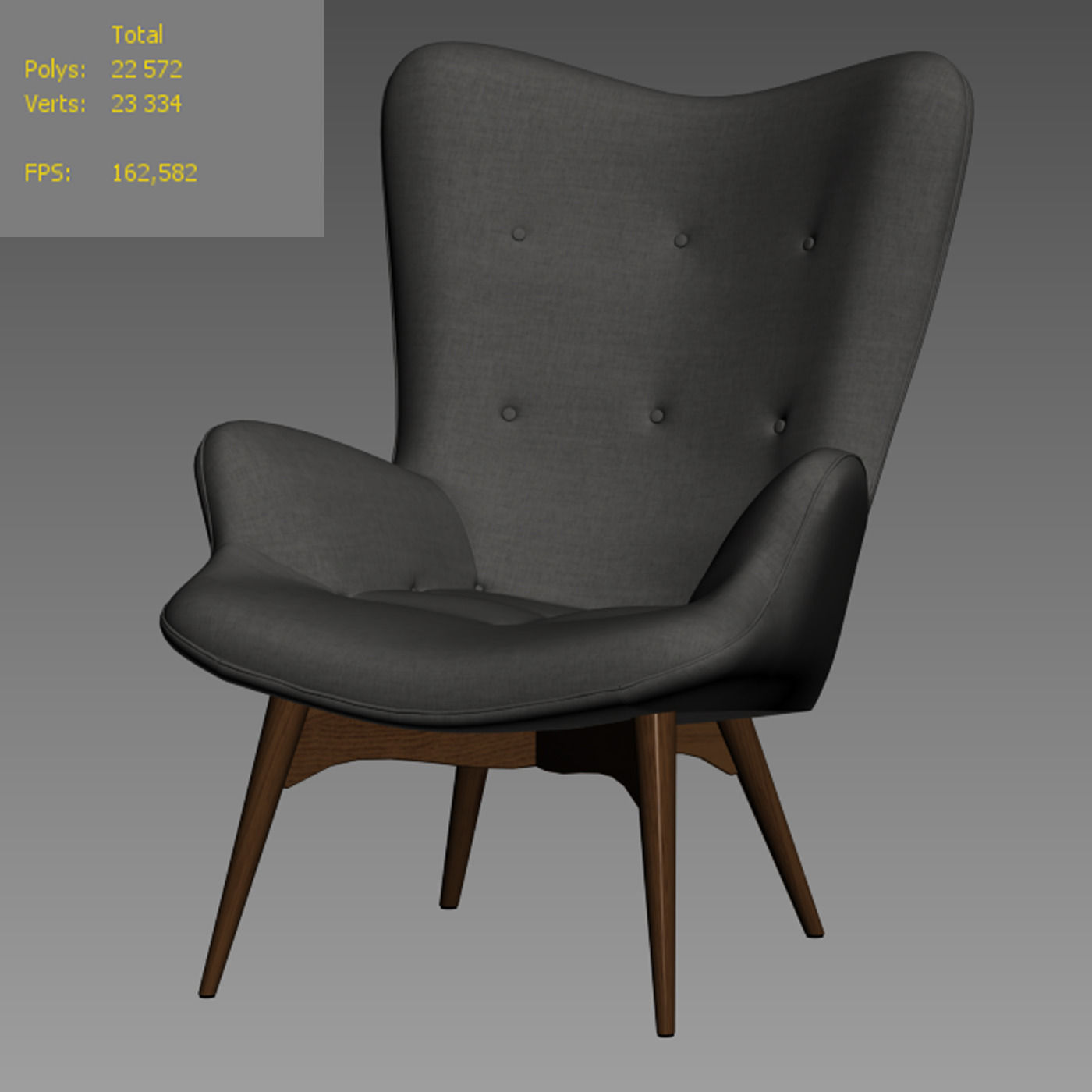 Lounge chair Contour 3D Model MAX OBJ FBX
