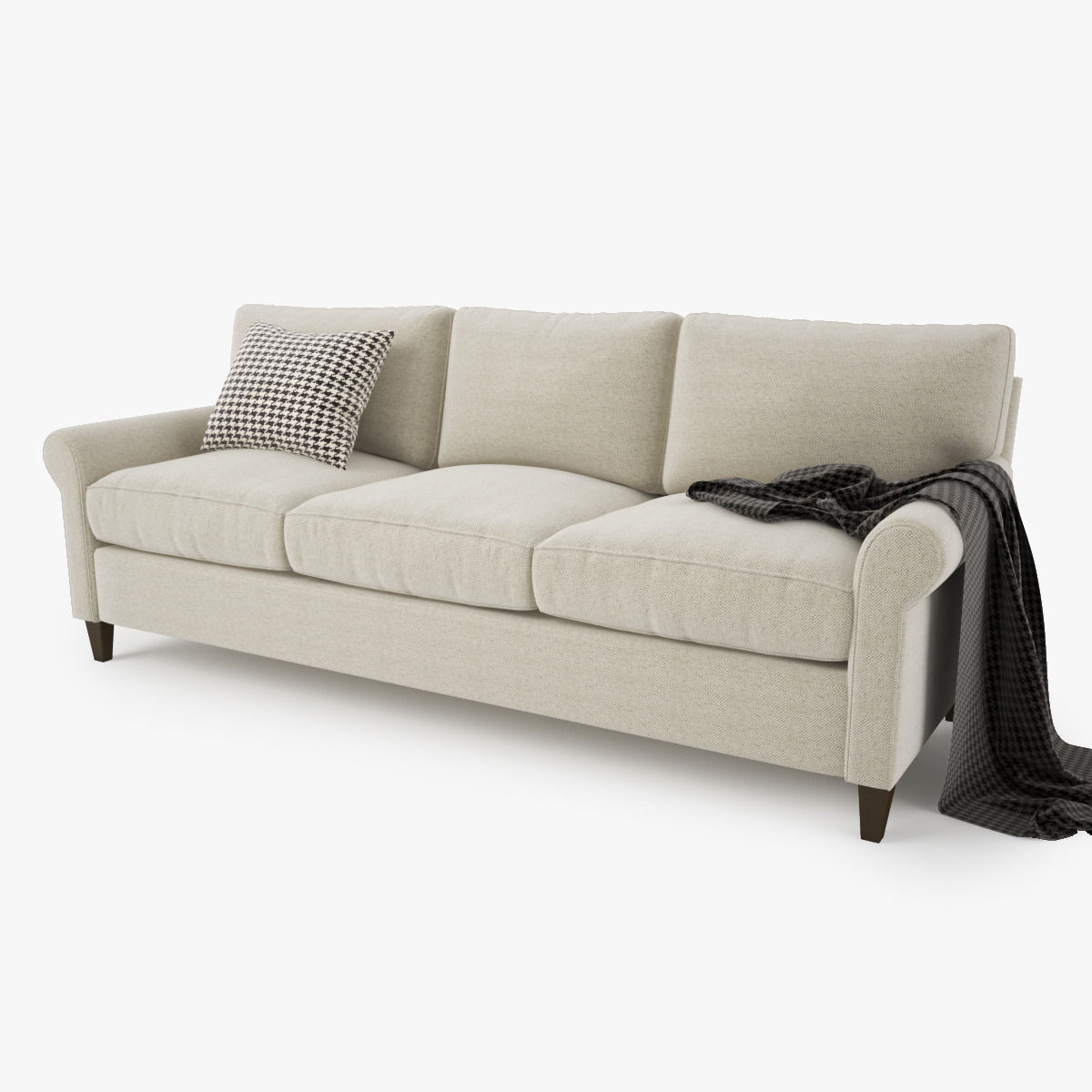 ... Crate And Barrel Montclair 3 Seat Sofa 3d Model Max Obj Mtl Fbx 2 ...