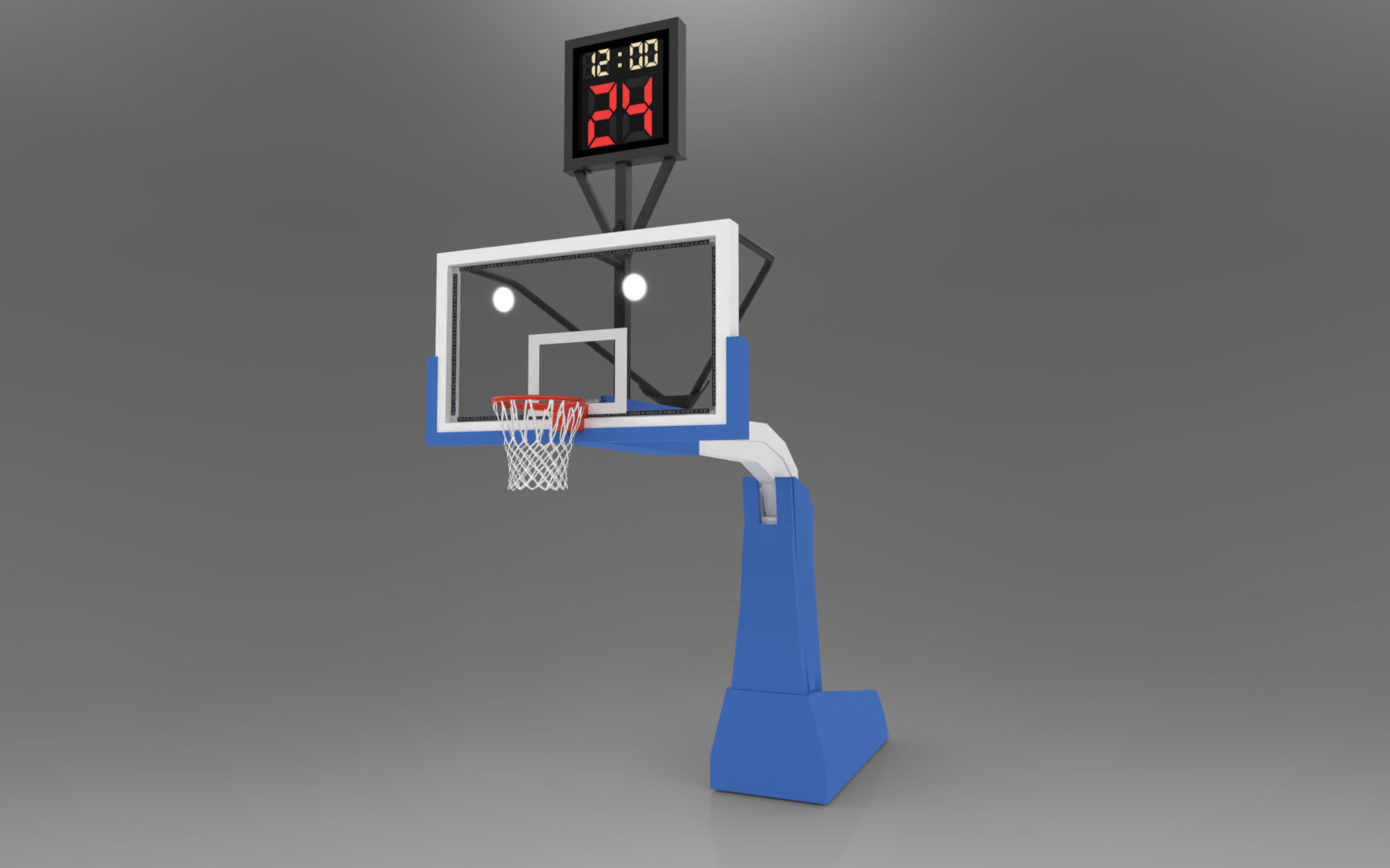 Pro Basketball Hoop and Stanchion