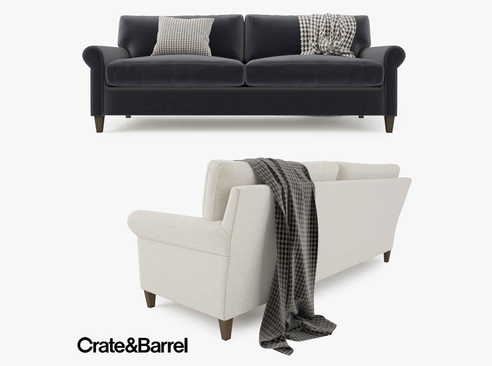 Crate And Barrel Montclair 2 Seat Sofa 3d Model Max Obj Fbx Mtl 1 ...