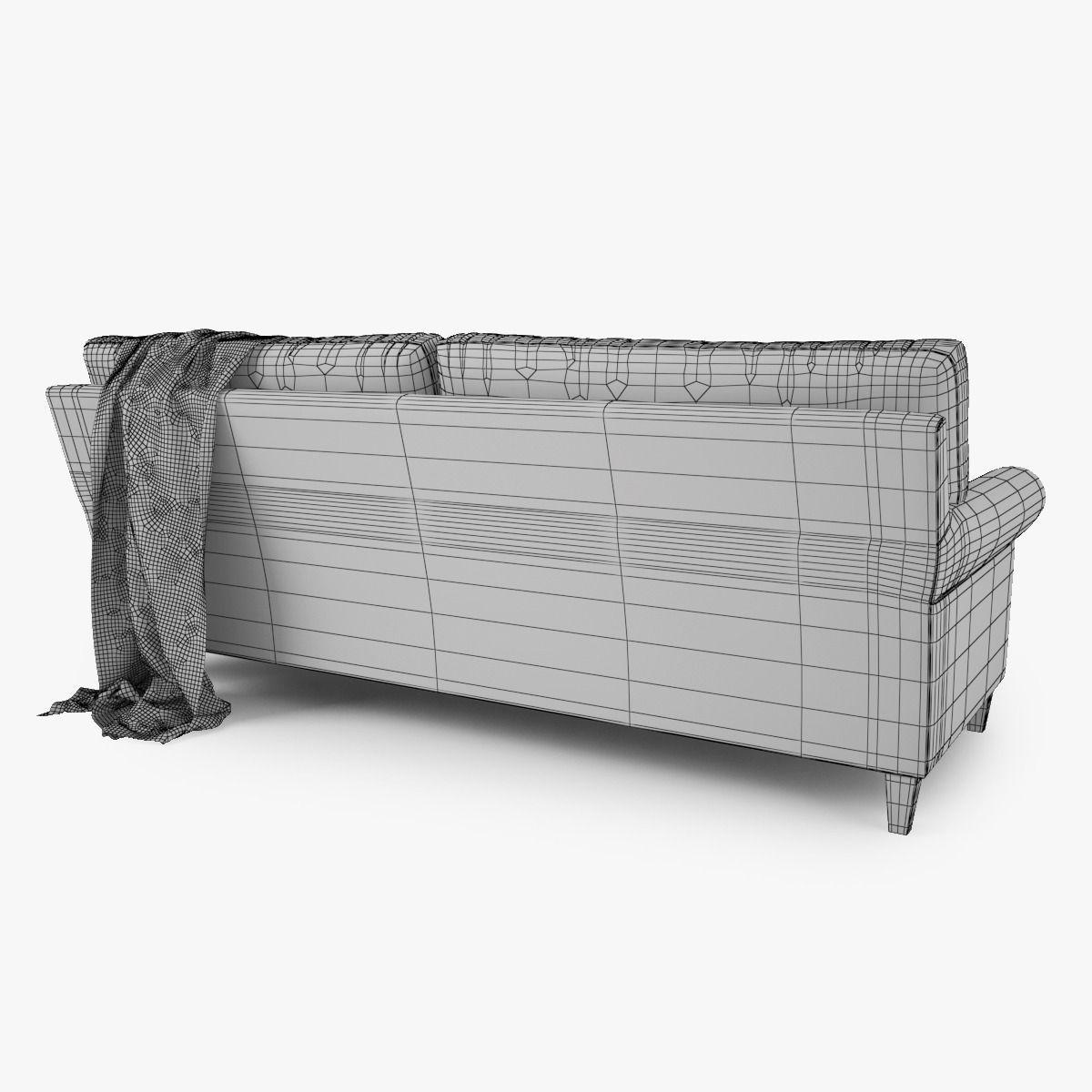 Crate And Barrel Montclair 2 Seat Sofa 3d Model Rigged Max
