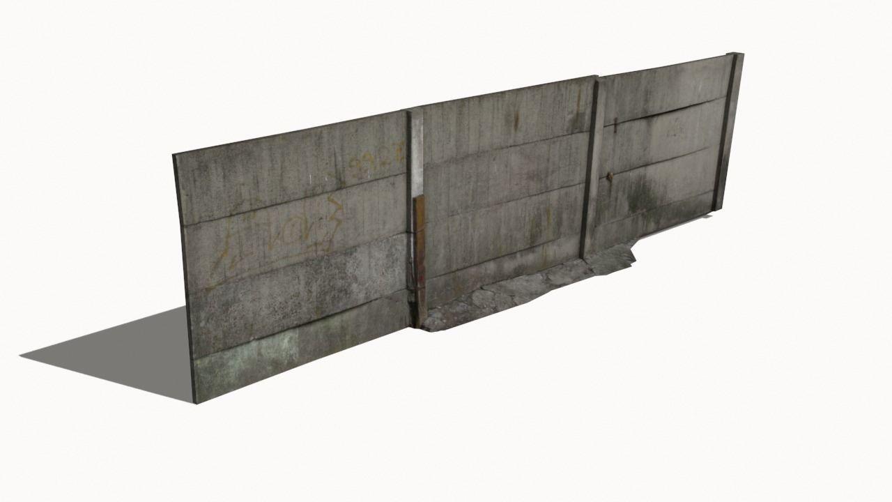 Concrete Fence Wall