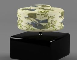 3D Table Lamp with Birds Pattern Gridded