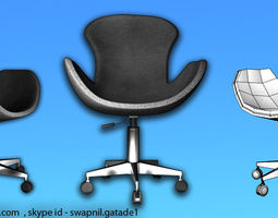 Office Chair 3D asset low-poly