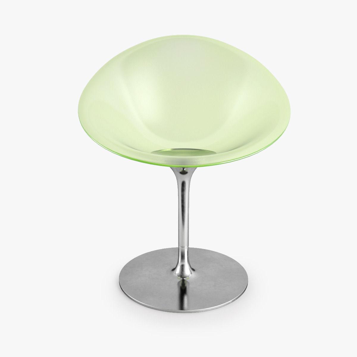 kartell eros swivel armchair 3d model max obj fbx mtl 5