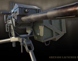 3D asset Grenade Launcher MK-19