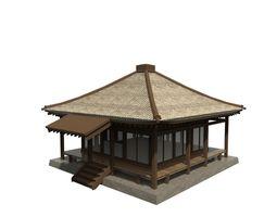 Asian Dojo 3D asset