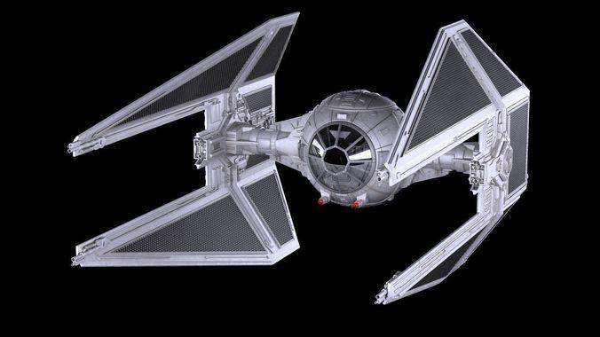 star wars tie interceptor 3d model max obj mtl 3ds fbx c4d lwo lw lws 1