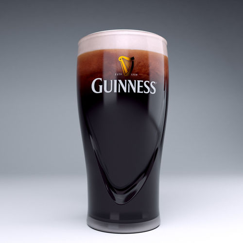 guinness beer glass 3d model max obj mtl 3ds stl 1