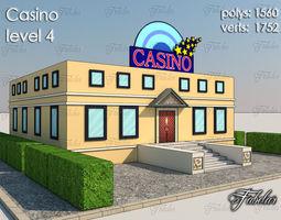polygonal Casino Level 3D model realtime