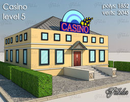 3d asset casino level 5 low-poly