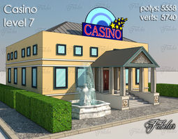 3D model game-ready Casino Level
