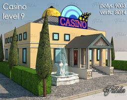 3d asset casino level 9 low-poly