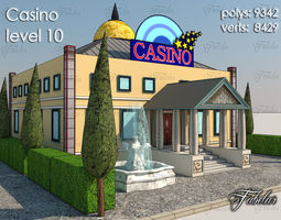 Casino Level 3D asset low-poly