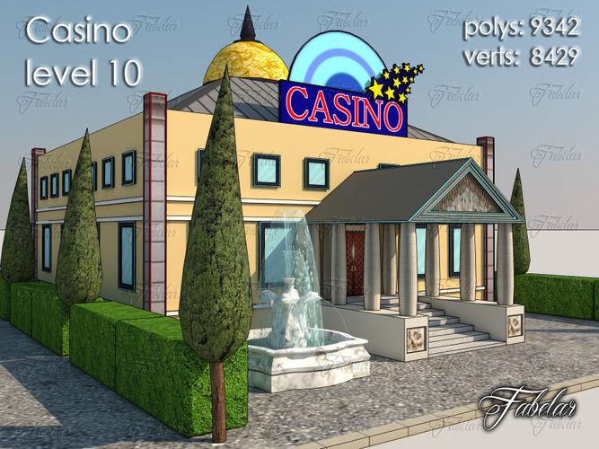 casino level 3d model max obj 3ds fbx c4d dae 1