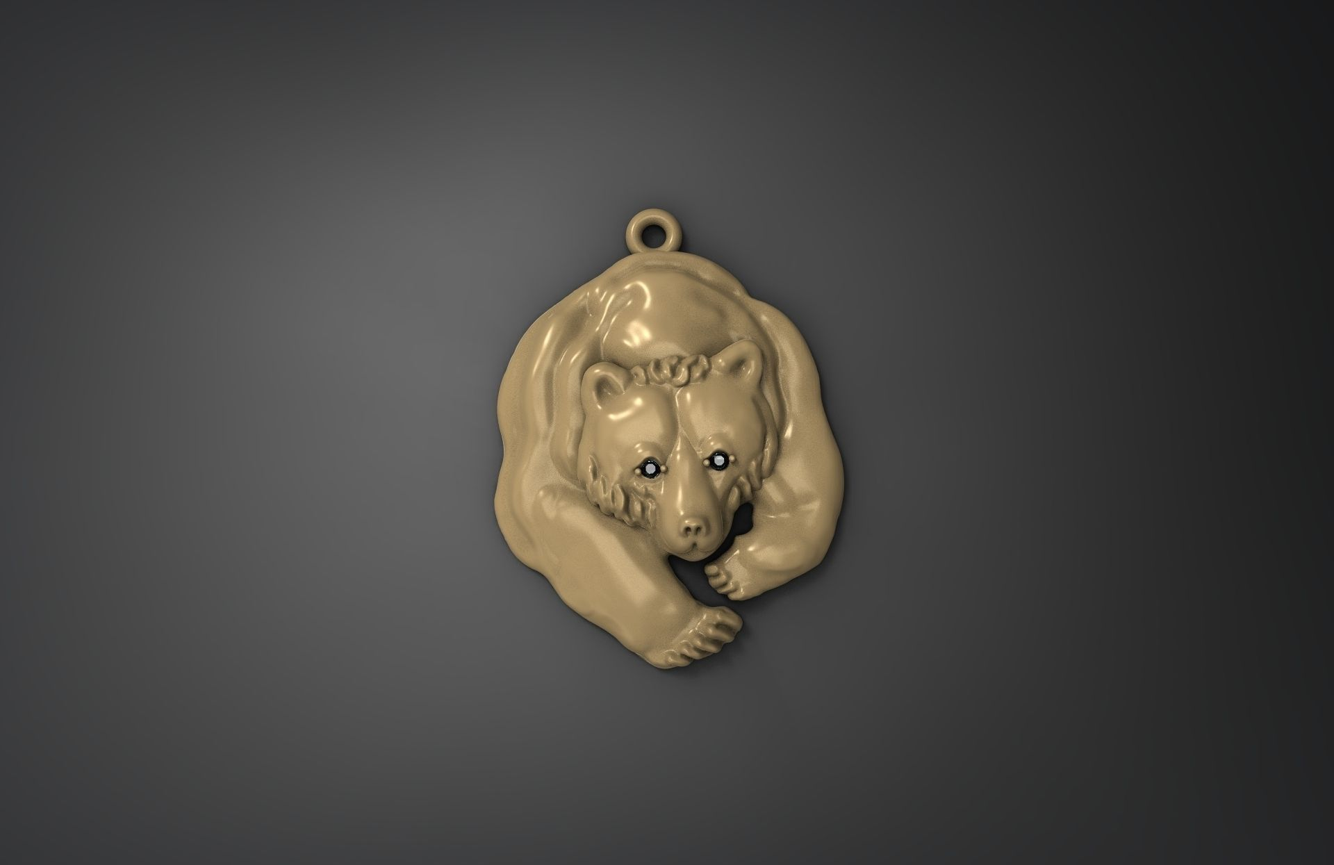 pomellato necklace pendant yellow bear teddy gold