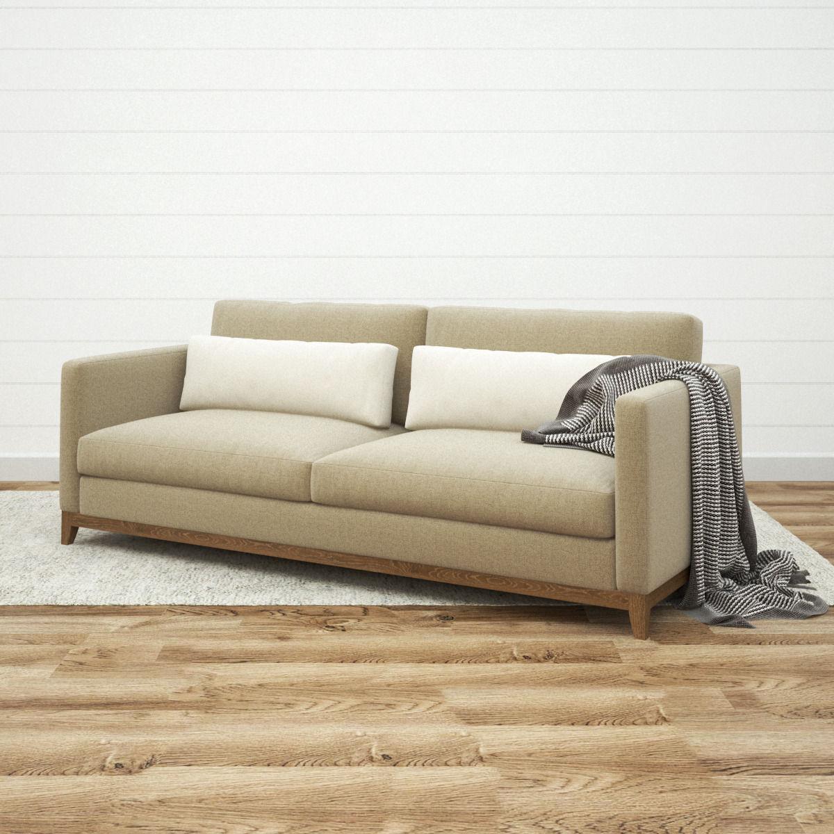Crate and Barrel Taraval 2 Seat Sofa 3D model MAX OBJ FBX MTL
