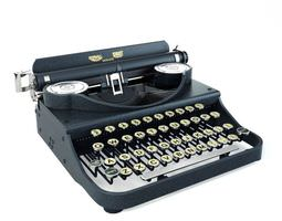 Retro Black Typewriter 3D