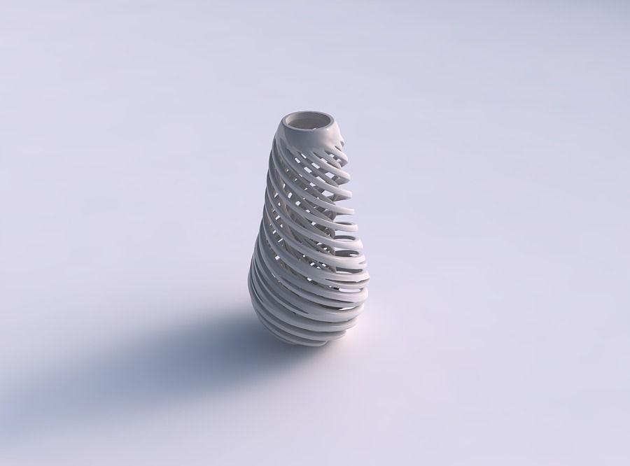 Vase taper with twisted inner and outer lines very twisted an...