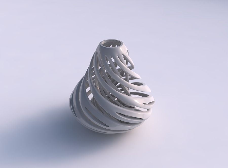Vase taper with twisted inner and outer lines twisted and tap...