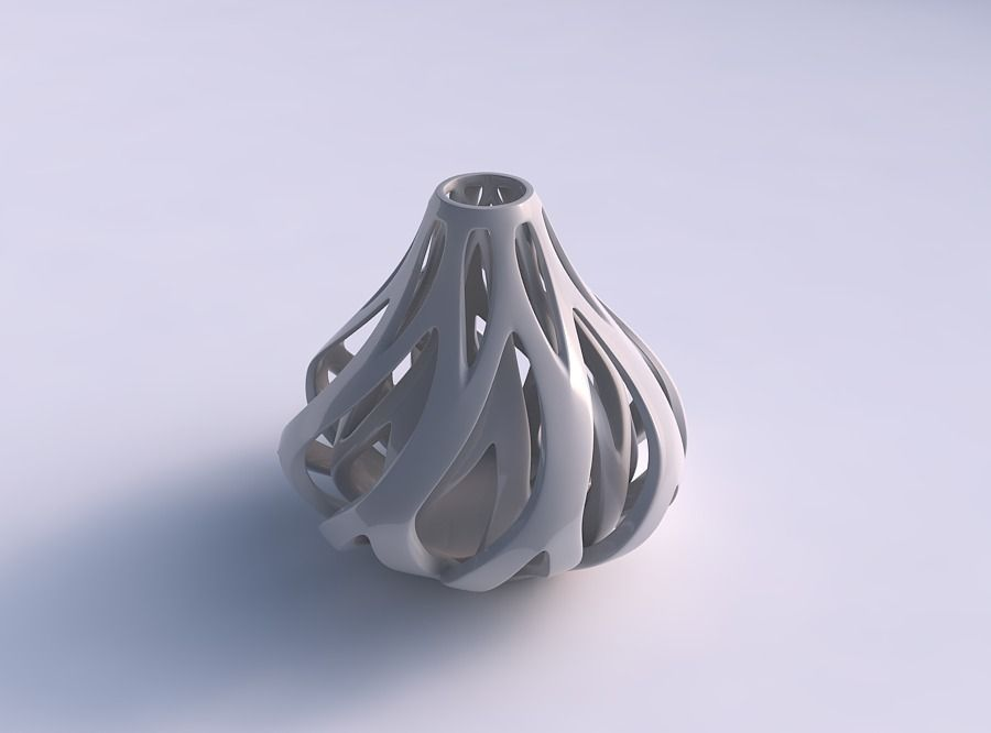 Vase taper 2 with twisted inner and outer lines tapered 2