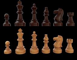 Staunton chess set - Updated 3D